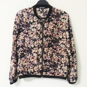 About A Girl Los Angeles Sheer Floral Jacket